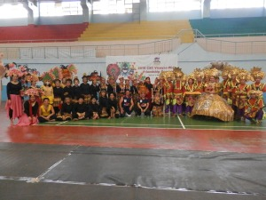 Delegates from CSC RO Nos. 6, 7, 8 (left to right) pose after the Cultural Dance Competition during the CSC Visayas-wide Friendship Games.
